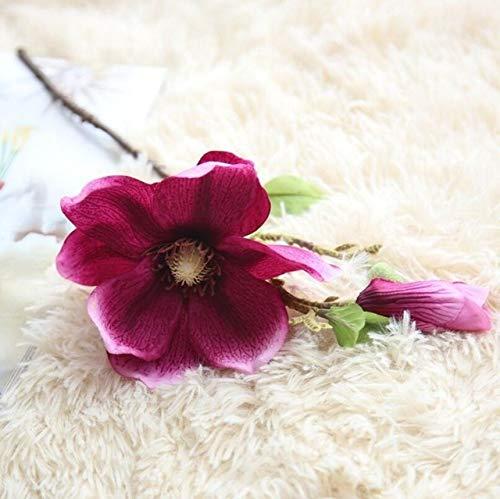 GANHUA Kunstmatige Bloem Magnolia Tak voor Bruiloft Decoratieve Zijde Magnolia Nep Bloemen voor Thuis Party Decor Wijn