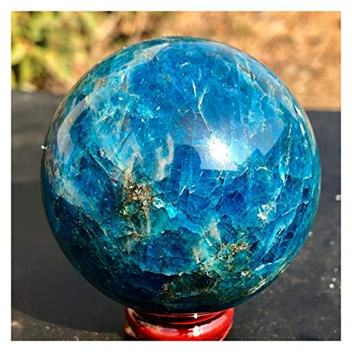 MZJJ ボールを癒し45-50MMナチュラルブルーアパタイト石球クリスタルレイキ