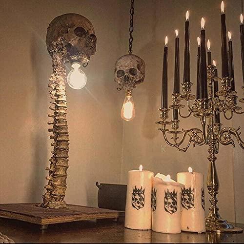 LXINRUI Lámpara de Esqueleto del cráneo, el Carnaval de los Esqueletos, la lámpara de cráneo del LED 3D, la decoración de Halloween, la luz de la Noche de cráneo Creativo, la decoración de la Fiesta