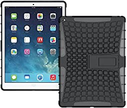 Nakedcellphone iPAD PRO CASE, Black Grenade Grip Flexible TPU Skin Hard CASE Cover Stand for Apple iPAD PRO (A1584, A1652, 32GB, 128GB)