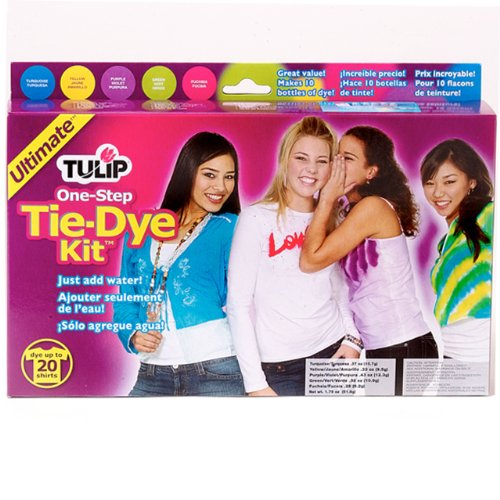 Tulip One-Step Tie-Die Kit, Assorted Ultimate Colors, Set of 5