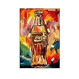 LOPOA Coca Cola Art Work Poster Cuadro decorativo Lienzo Arte de Pared Sala de Estar Poster Dormitorio Pinturas 40x60 cm