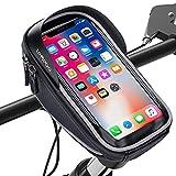 LEMEGO Soporte Bolsa Movil Bicicleta, Bolsa Bicicleta Impermeable, Funda Móvil Soporte de Bici Manillar para Ciclista Ciclismo con Pantalla táctil, Impermeable para Móvil Inferior de 6.0 Inches