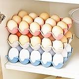 Quanjucheer - Estante organizador para 15 huevos, plástico, azul, 24.3cm x 14.5cm x 4cm