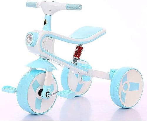 gran descuento 3-en-1 Bicicleta para Niños Triciclo Scooter Scooter Scooter 3-6 años de Edad, Cochecito de bebé, Bicicleta, Control Musical, Luces de Colors, Pedal Desmontable (Color   Sky azul)  hasta un 65% de descuento