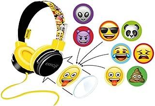 (Yellow) - Emoji Flip N Switch Customisable Headphones (Yellow)