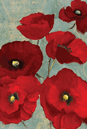 Toland Home Garden 109872 Red Painted Poppies House Flag