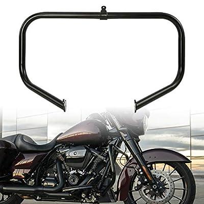 XFMT Black Motorcycle Engine Saddlebag Highway Guard Crash Bar Compatible with Harley Touring Road King Street Glide 2009-2020 by XFMT