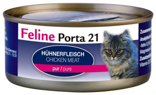 Feline Porta Katzenfutter Feline Porta 21 Huhn pur 156 g, 6er Pack (6 x 156 g)