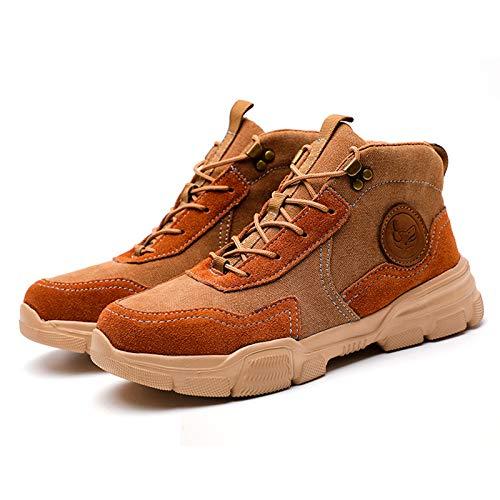 HOUJIA Zapatos de Trabajo,Botas de Seguridad para Hombre,Puntas de Acero Anti-Piercing Zapatos de Trabajo,Antideslizante Transpirables,para Comodas Unisex Zapatos de Industria y Construcción,Unisex