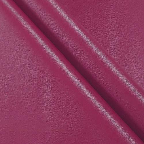 ZXC 138 cm de Ancho Venta De Polipiel por Metros Tejido De Piel SintéTica por Tapizar,Polipiel,Manualidades,Vinilo,Cojines o Forrar Objetos 1m Vendido por Metro(Color:Rosa roja)