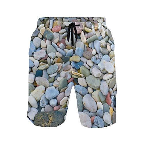LISNIANY Bañador Hombre,Piedras realistas Guijarros Cauce del río Mineral Rock Marble Pattern,Natación...