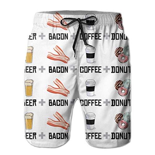 Jiger Beach Shorts Beer Bacon Coffee Donuts Zwembroek met zakken