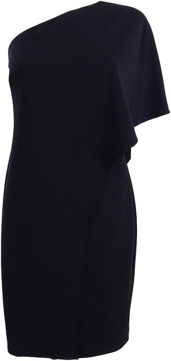 Lauren by Ralph Lauren Women's One-Shoulder Jersey Shift Dress