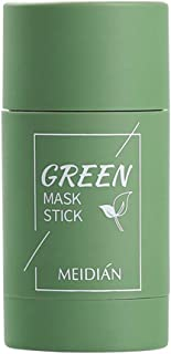 Green Tea Purifying Clay Face Mask Moisturizing Oil Control Shrink Pores Remove Anti-Acne Solid Fine Facial CareFacial Mud...