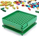 Máquina de llenado de cápsulas con 100 agujeros, con placa separadora, dispositivo de llenado de cápsulas, soporte manual para cápsulas, para polvos, cápsulas cosméticas, vitaminas y hierbas 00#