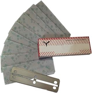 UTST スクレーパー 水槽 クリーニング ステンレス製 プロレイザー 替え刃 10枚 セット コケ とり (62mm, 替刃)