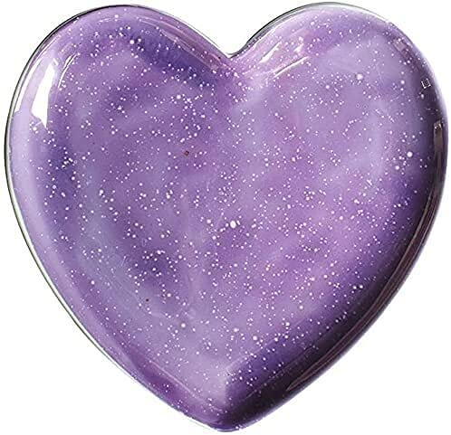 KMILE Casa Creativa Nordic Simple Purple Aurora En Forma de corazón Placa de cerámica (Size : 8 Inches)