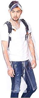 ZXF Chubasquero Ropa De Protección Transparente Impermeable con Capucha Impermeable De Una Sola Pieza De Emergencia Adult...