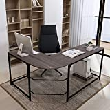 Teraves Reversible L-Shaped Desk Corner Gaming Computer Desk Office Workstation Modern Home Study...