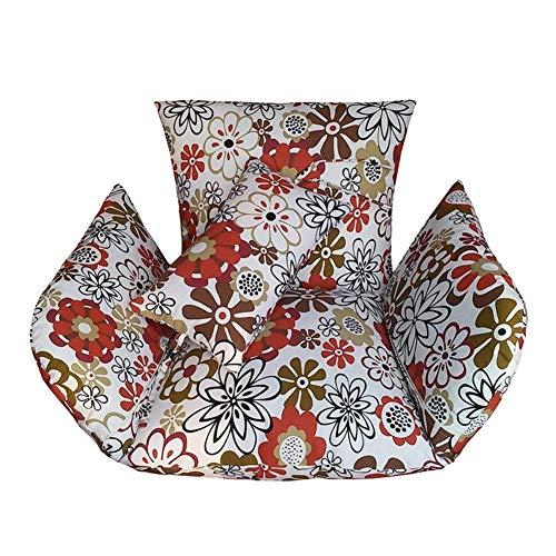 Opknoping ei hangmat stoelkussens zonder standaard, Swing zitkussen dikke nest hangstoel terug met twee kussens (Alleen Stoelkussen) (A) sudaijins (Color : J)