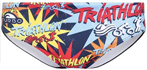Turbo Triathlon New Star Brief Herren Multicolor Größe L | US 34 2019 Badehose
