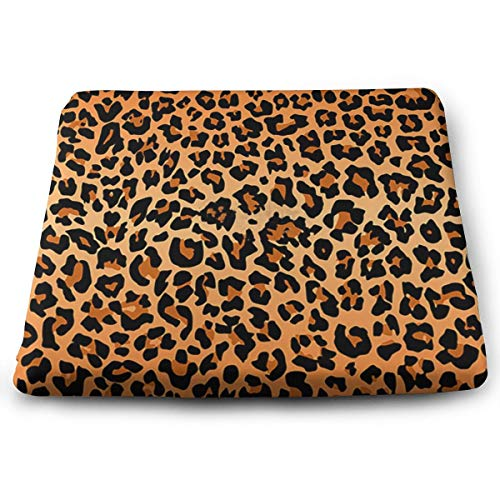 Randolph Wordsworth Best Leopard Print Seat Cushion Memory Foam Dining Chair Pads Stool Butt Seat Pillow Cushions for Pressure Pain Relief Offices Wheelchairs Kitchens Cars