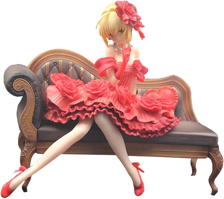 JIE. Aquamarine Fate Extra Sciabola Rossa Idol Emperor Ver. modellolo di Animazione della uomoo di Nero