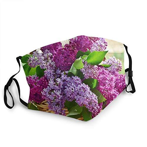 Lavender Lilac Purple Violet Flowers Cute Face Mask, Cold Mask, Dust Mask, Fashion Mask