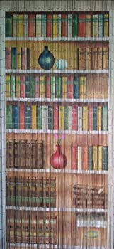 ABeadedCurtain 125 String Bookcase Beaded Curtain 38% More Strands Handmade with 4000 Beads  +Hanging Hardware