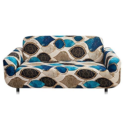 WXQY Funda de sofá elástica para Muebles,Funda de sofá de Esquina en Forma de L para Sala de Estar,Funda de sofá Antideslizante para protección de Mascotas A15 de 3 plazas