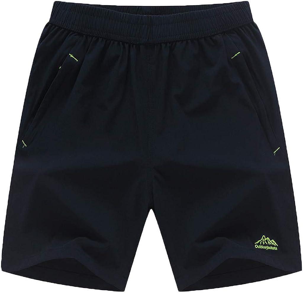 UOFOCO Men's New Leisure Running Beach Shorts Summer Loose Outdoor Sports Short Pants