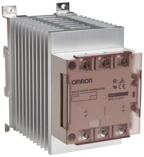 Omron G3PE-515B-3N DC12-24 Solid State Relay for Heaters, Zero Cross Function, Yellow Indicator, Phototriac Coupler Isolation, Triple-Phase, DIN Track Mounting, 3 Poles, 15 A Rated Load Current, 200 to 480 VAC Rated Load Voltage, 12 to 24 VDC Input Voltage