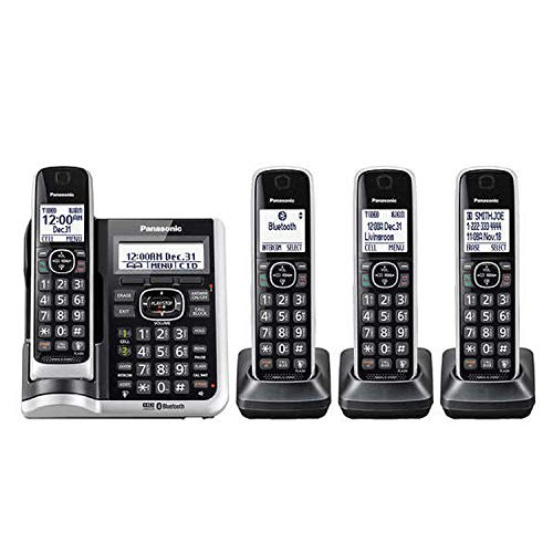 Panasonic KX-TG884SK ( 4 Handset ) Cordless Phone – Digital Answering System Bluetooth Link2Cell DECT 6.0 - Base KX-TG885SK , H/S KX-TGFA61B (Renewed)