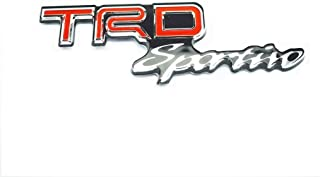 PB-Autoparts TRD Sportivo Badge Decal Emblem Clear ABS Red/Black For Toyota Fortuner 2015-18