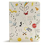 CSB Journal and Draw Bible for Kids, White