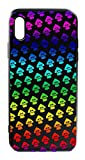 Splatoon Phone Cases Blue Glass Back Cover For iPhone X