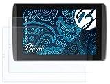 Bruni Schutzfolie kompatibel mit Nvidia Tegra Note 7 Folie, glasklare Bildschirmschutzfolie (2X)