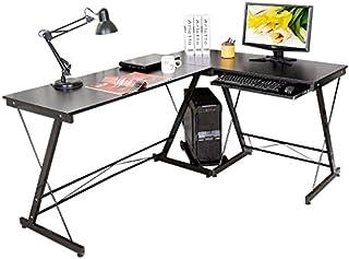 comprar comparacion HLC Mesa de Ordenador con Bandeja para Teclado y PC,Escritorio 161 cm