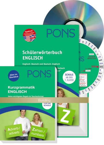 PONS Schülerwörterbuch Englisch, m. Kurzgrammatik u. CD-ROM
