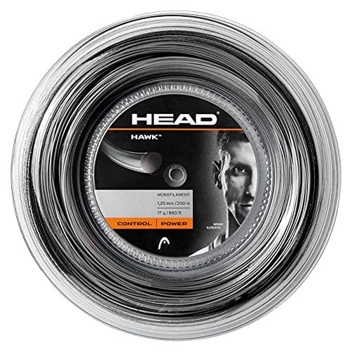 Head Hawk Rollo Cordajes de Raquetas de Tenis, Adultos Unisex, Negro, 17