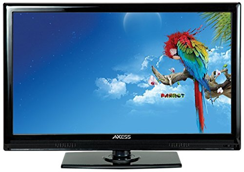 AXESS TV1701-19 19-Inch LED HDTV, Features 12V Car Cord Technology, VGA/HDMI/USB Inputs, Built-In Digital and Analog TV Tuner, Full Function Remote