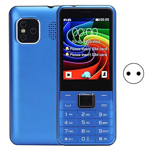 Sxhlseller Teléfono móvil portátil y liviano con Pantalla de 2.8 Pulgadas 6531E gsm 32MB + 32MB Teléfono móvil de Doble Modo de Espera con Doble Tarjeta 100‑240V(EU)