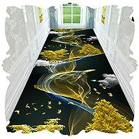 KKCF 廊下のカーペット、 エリアラグ マイクロファイバー バッキングプラスチック滑り止め底 3D 廊下 ベッドルーム 部屋の生活、 サイズはカスタマイズ可能 (Color : A, Size : 1x7m)
