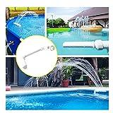 HITECHLIFE, kit di fontana per piscina, cascata regolabile, in PVC, con ugello a cascata, per piscine, spa, giardino, piscina, accessori