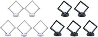 Baosity 10 Pcs 3D Floating Jewelry Display Frame Case Box Coin Display Stand Rack Holder 7x7cm