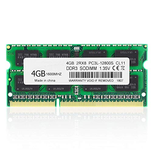 BPX 4 GB de RAM, DDR3 1600 PC3-12800 1.35V CL11 204 Pines 2Rx8 PC3 12800S PC3 / PC3L DDR3L / DDR3 SODIMM RAM DDR3 Memoria RAM para computadora portátil para computadora portátil