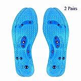Semelles magnétiques de massage, (2 Paires) Vegena Gel Semelles, Effet sur la fatigue circulatoire Soulager la thérapie de la santé Semelles de massage Semelles de chaussures Pads pour hommes Femmes