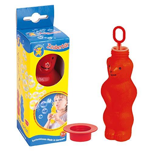 Pustefix Zauberbär Rot I 180 ml Seifenblasenwasser I Bubbles Made in Germany I Seifenblasen Spielzeug für Kindergeburtstag, Hochzeit, Sommerparty & als Gastgeschenk I Spaß für Kinder & Erwachsene