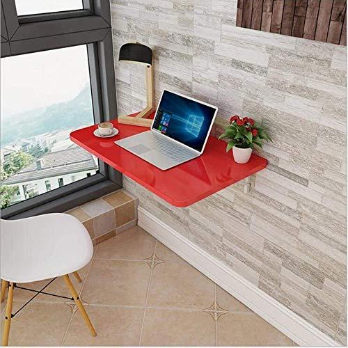 Nest of Tables Mesa de Centro Blanca Mesas auxiliares Mesa para portátil Mesa de Comedor Plegable de Pared Escritorio para computadora Nota 13 tamaños (Color, Blanco, Tamaño, 70 * 40), Rojo,